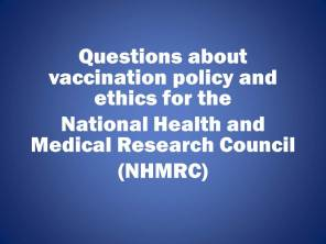 Questions for NHMRC
